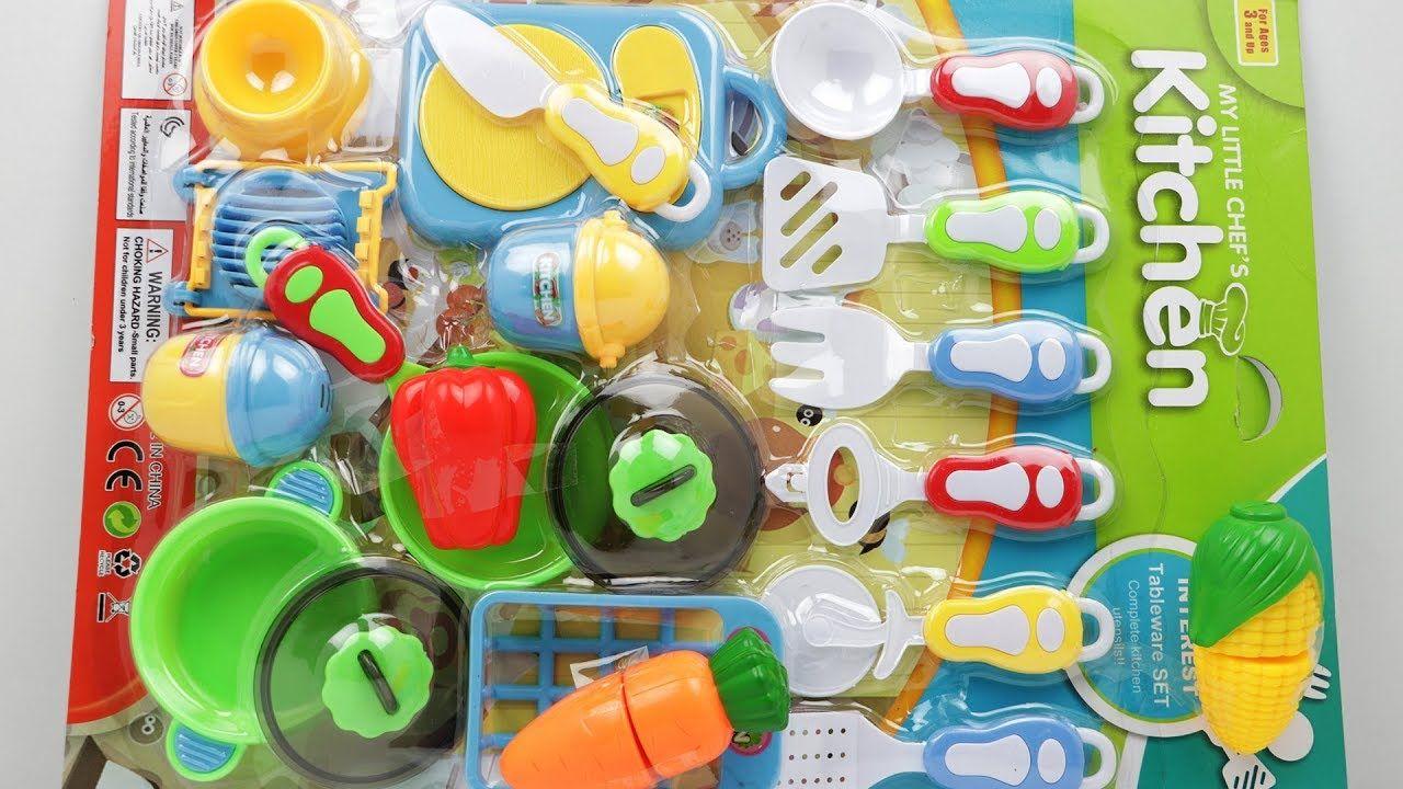 My Little Chef S Kitchen Toys Unpacking Playing Cooking Toy Kitchen Cooking Toys