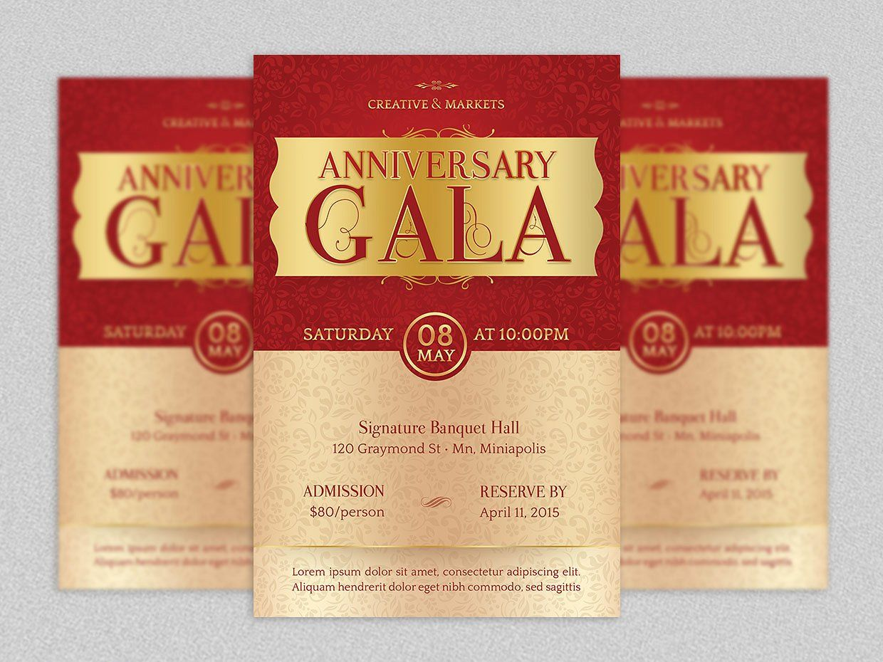 Anniversary Gala Flyer Template Anniversaries And