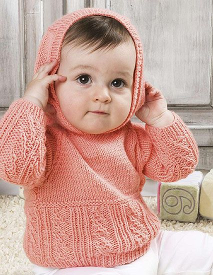 6838de83f Craft Passions  Baby hooded sweater.  free   knitting pattern link ...