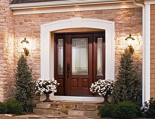 Un mix parfait entre moderne et classique, cette porte au design - choisir une porte d entree