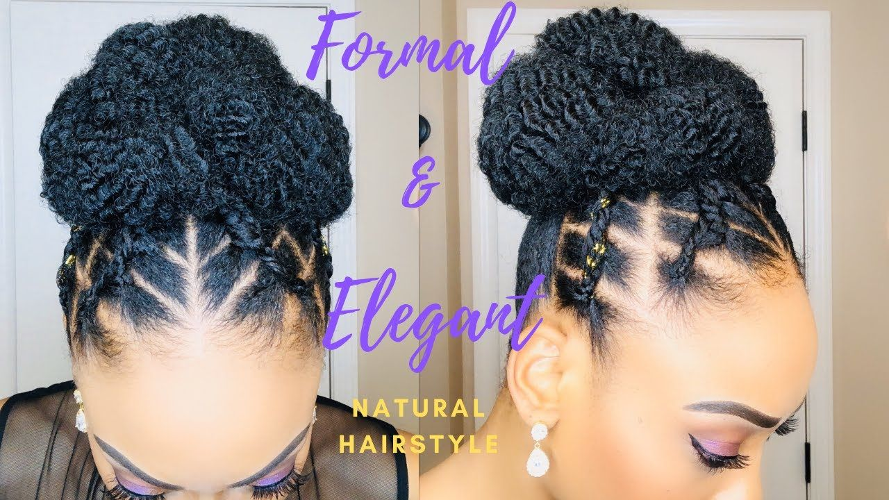Formal Elegant Natural Hairstyle For The Non Braider Beginner Friendly Updo In 2020 Natural Hair Styles Protective Hairstyles For Natural Hair Natural Hair Updo