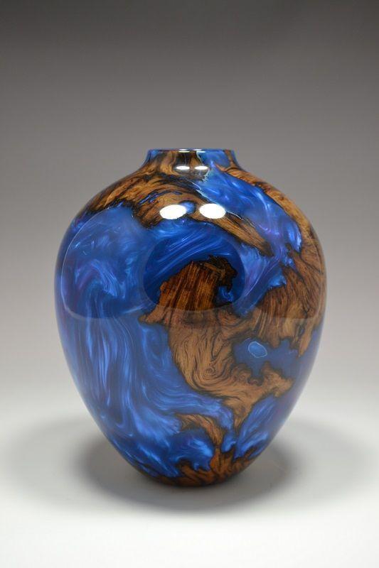 Wood And Resin Vase Wood Turning Projects Wood Lathe