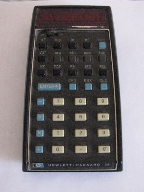 #HP-35 - #HP's first pocket #calculator by #retrocomputers, via Flickr #vintagecalculator #retrotechnology