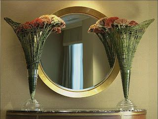 How elegant is this pair? Celosia and  willow armatures.