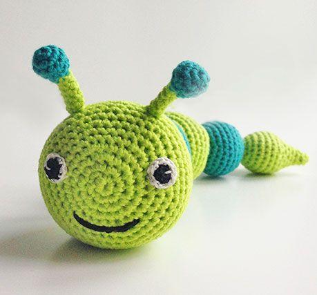 Gratis Hækle opskrift | Hæklet larve | Hækl - Crochet | Pinterest ...