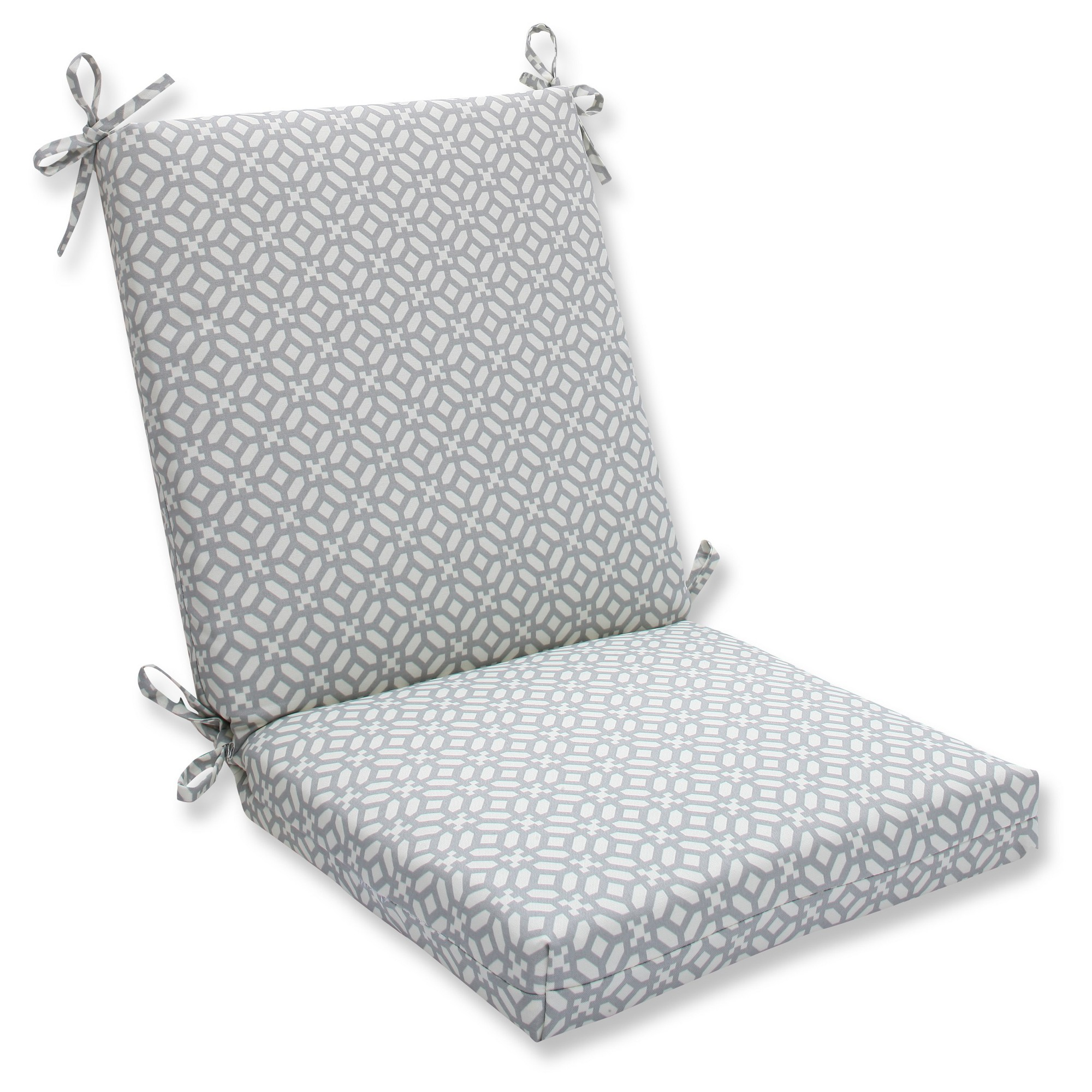 Pillow Perfect Outdoor One Piece Seat And Back Cushion Gray