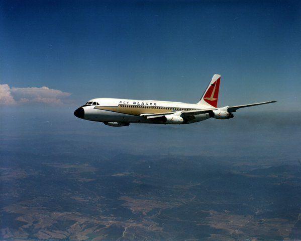 What A Beauty Alaska Air Convair 880 In Flight 1961