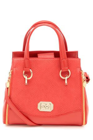 Leona By Edmiston Alcatraz Small Tote Bag In Red Le0040