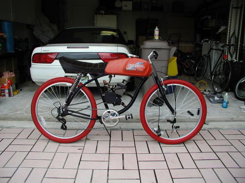 c4b80dc3920 Cafe Racer Motorized Bicycle from the Engine Kit Forum | Bikes ...