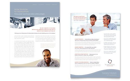 Marketing Consulting Group - Flyer Template Design Sample Sell - sales sheet template