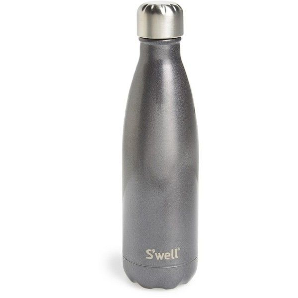 S'Well 'Glitter Smokey Eye' Insulated Stainless Steel Water Bottle (£19) ❤ liked on Polyvore featuring home, kitchen & dining, filler, random and smokey eye