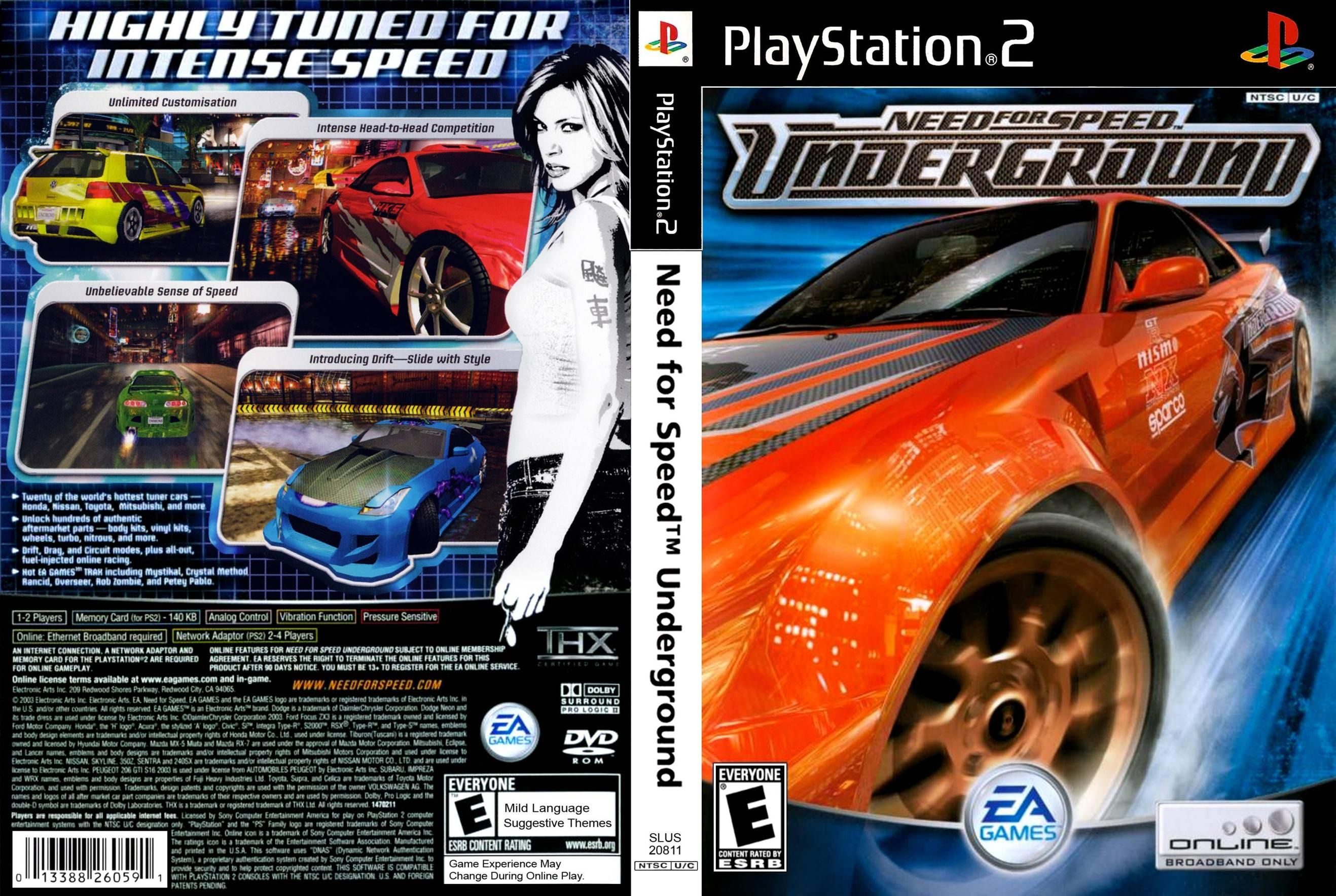 need for speed underground PS2. i have this game (With