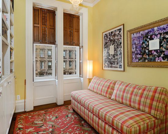Decorating Traditional Family Room With Interesting Plaid