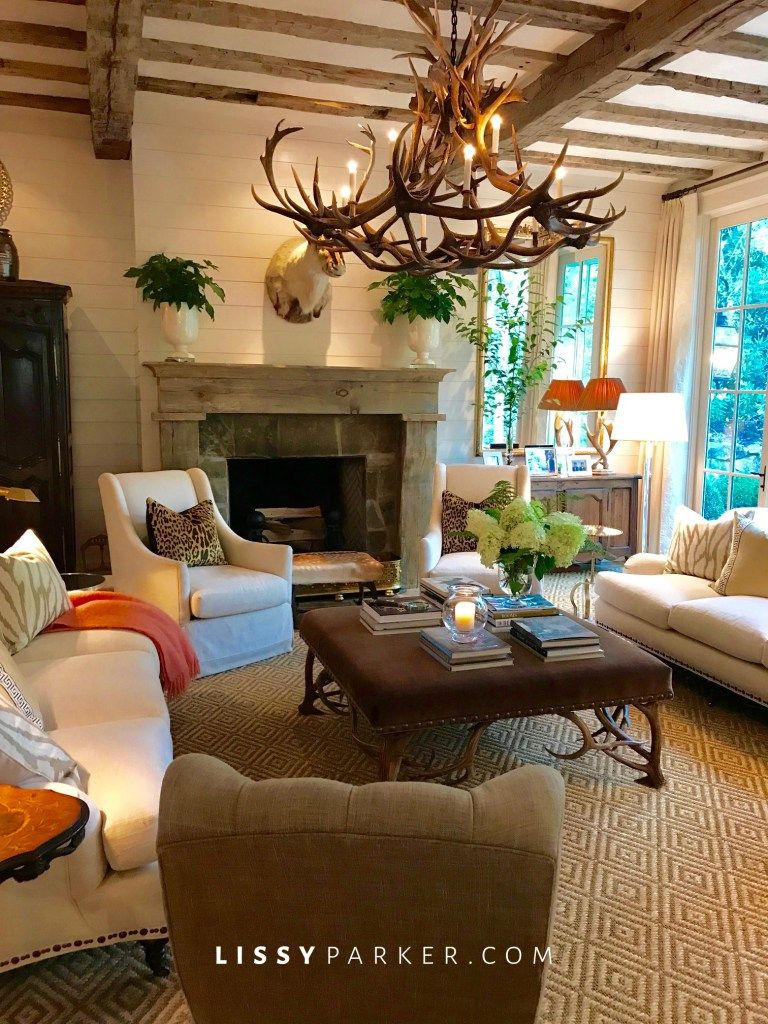 Cashiers living room of designer francie hargrove