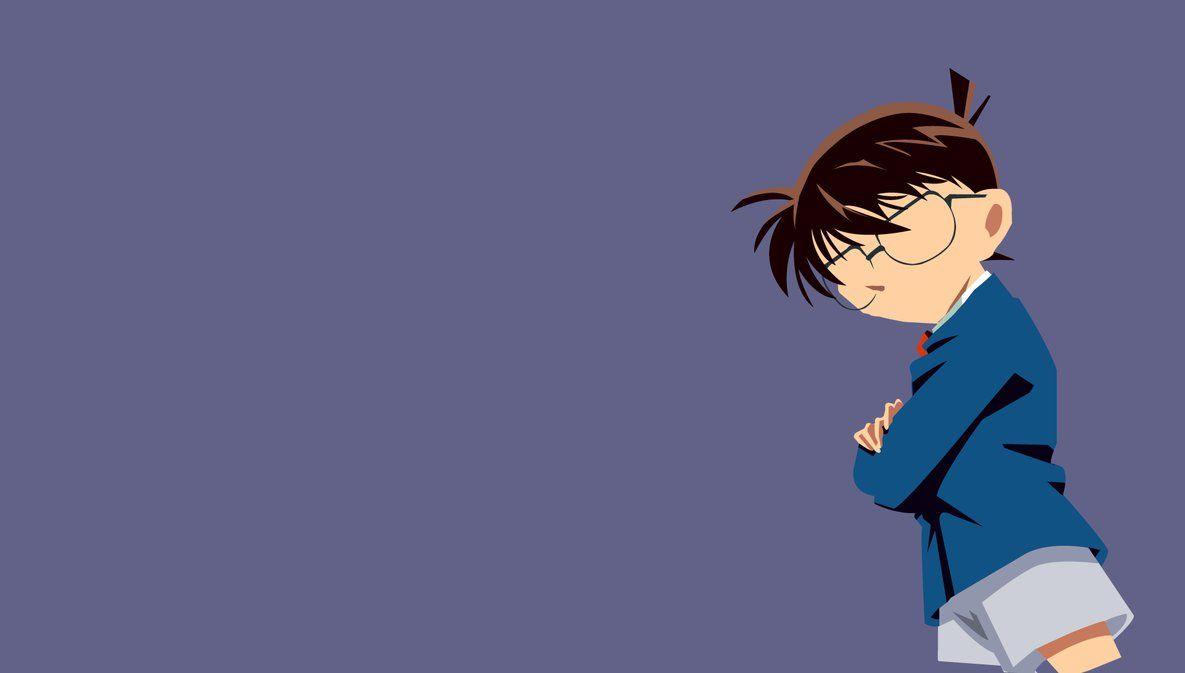 Detective Conan Minimalist By Siawsharingan On Deviantart Detective Conan Wallpapers Detective Conan Shinichi Detective Conan