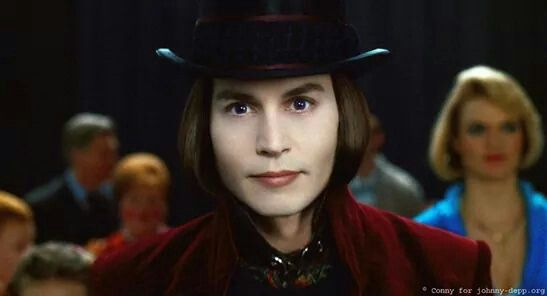 Johnny Depp As Willi Wonka In Charlie And The Chocolate Factory