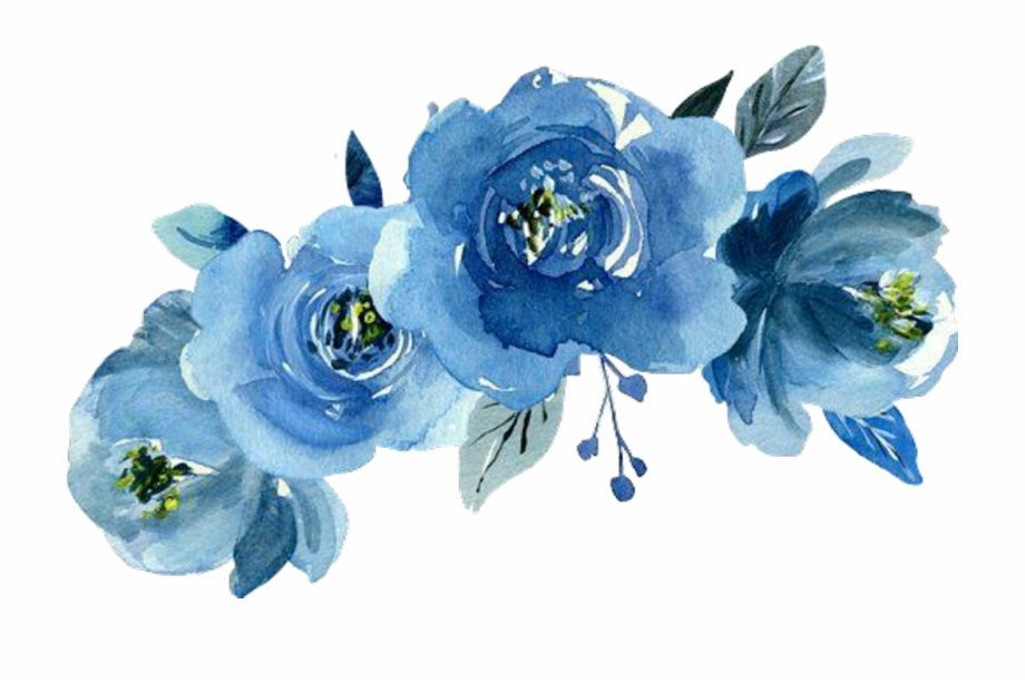 Aesthetic Blue Flowers Png Aesthetic Blue Flowers Png Blue Flower Painting Flower Crown Drawing Blue Flower Png