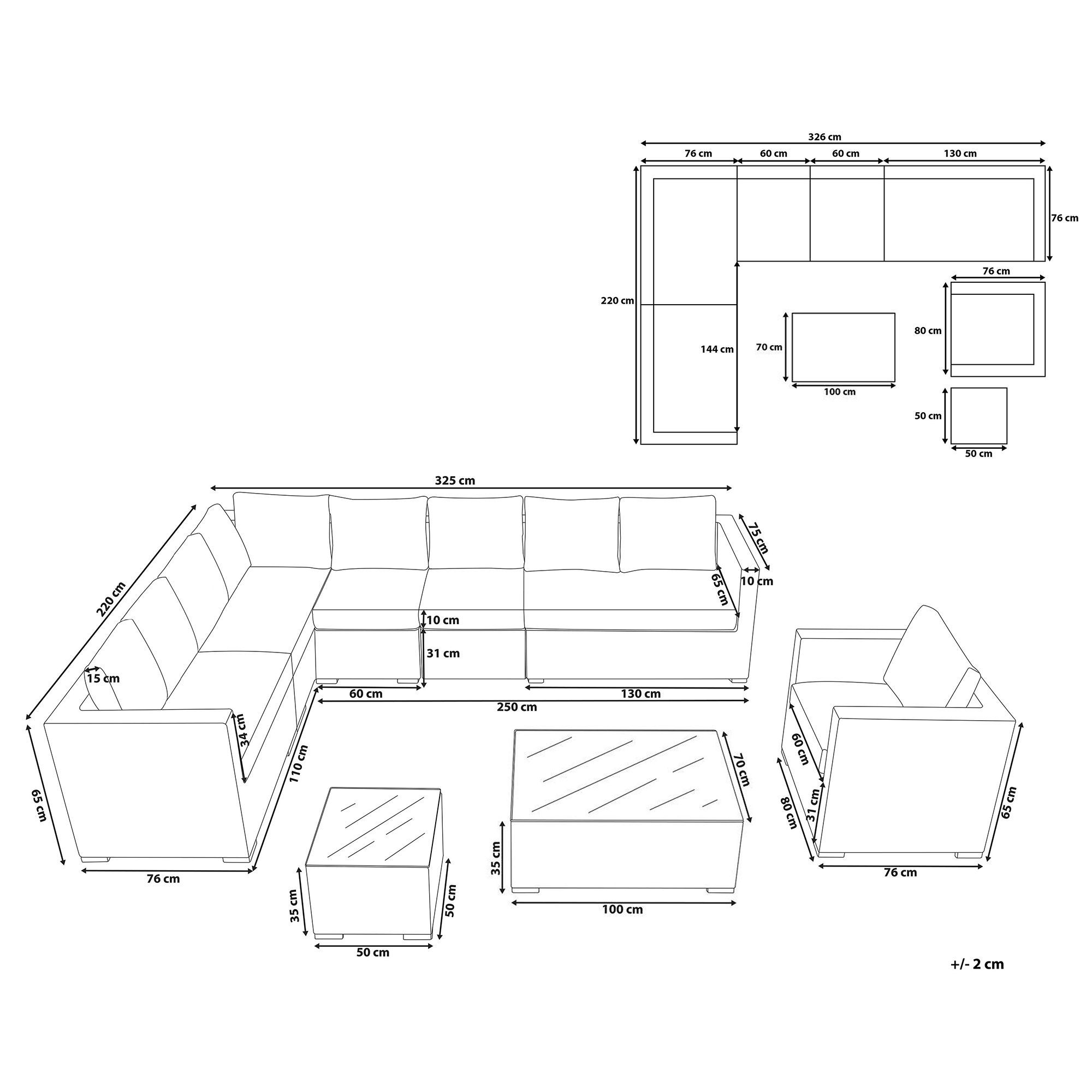 Set Da Giardino 8 Posti In Rattan Marrone Xxl In 2021 Lounge Polyrattan Gartenset