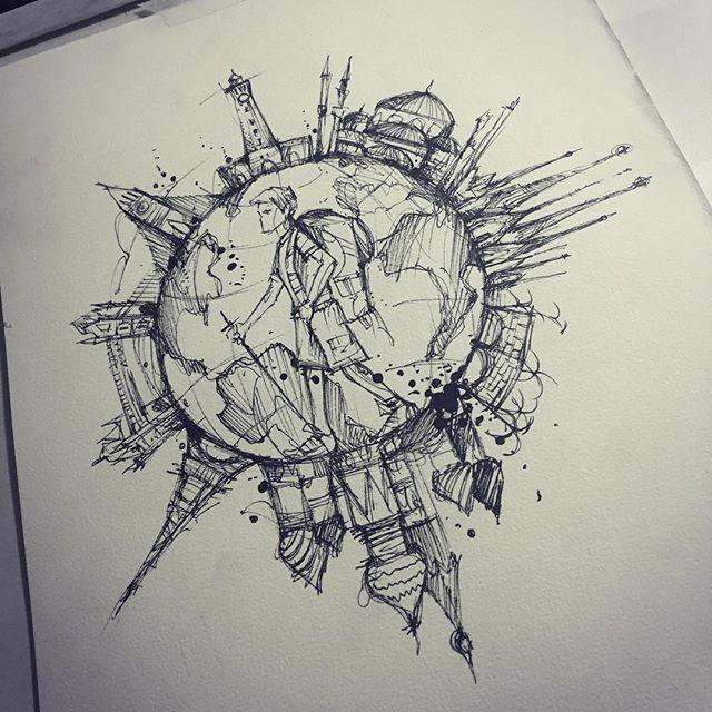 cd26b6986975 Sketch  world  backpacker World Map Sketch