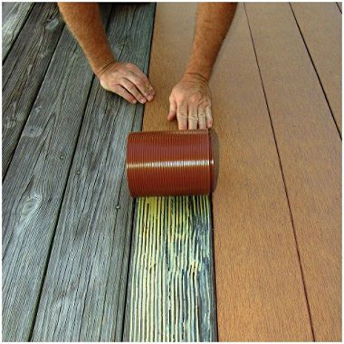 Cover Old Deck With Strips Called Profekt Found At Home Depot