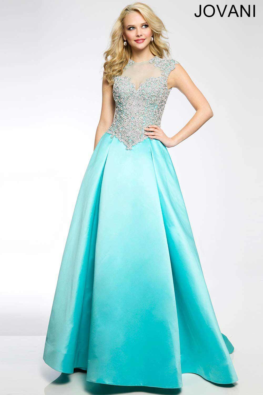 A-Line атласное платье 20594 | www.jovani.com | Pinterest | Satin ...