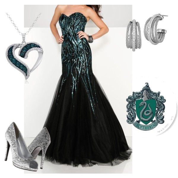 Slytherin Yule Ball Outfit VII by getmetohogwarts on Polyvore ...