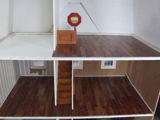 Diy Hardwood Dollhouse Flooring From Vinyl Tiles Where The
