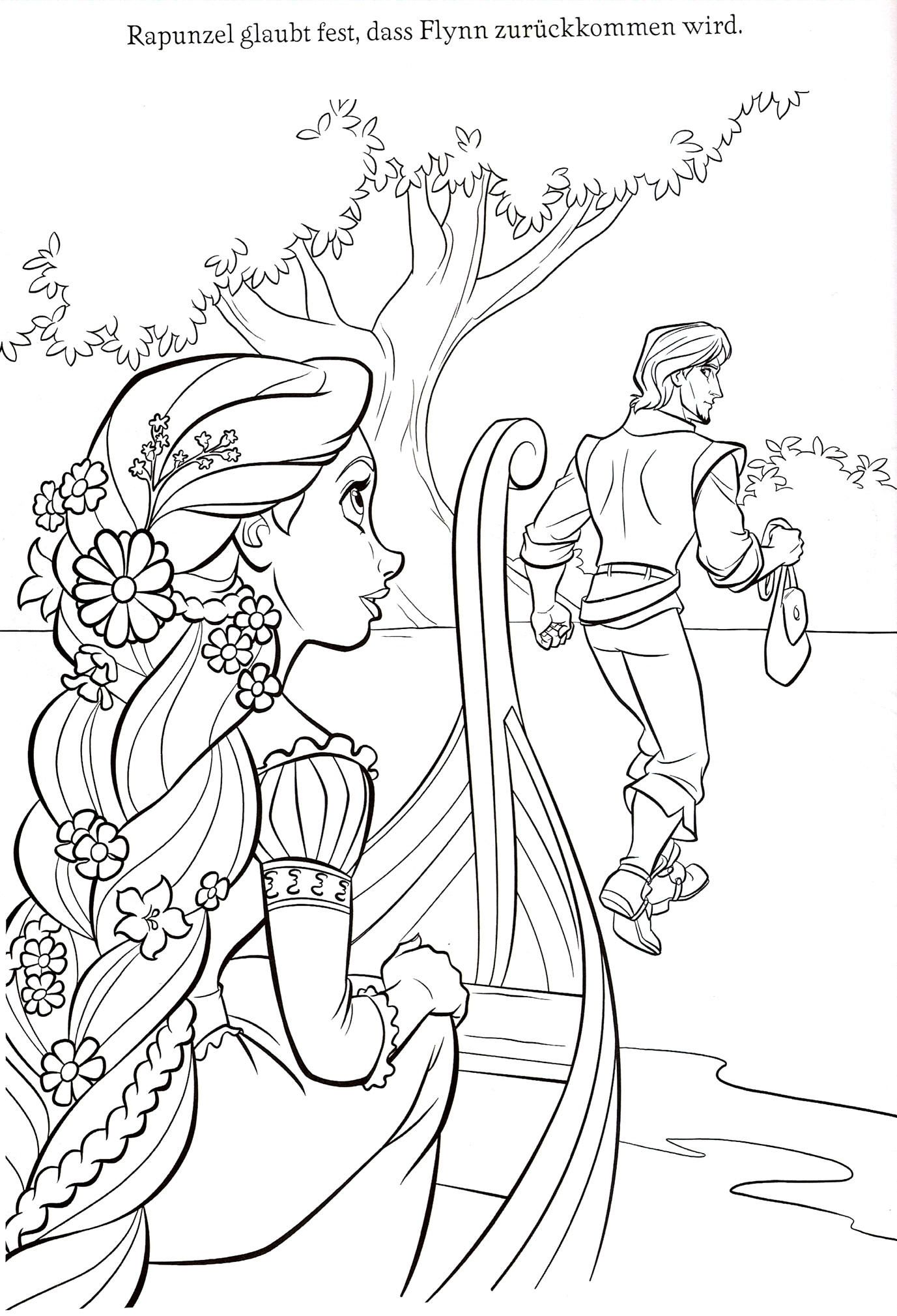 printable free disney princess tangled rapunzel coloring sheets