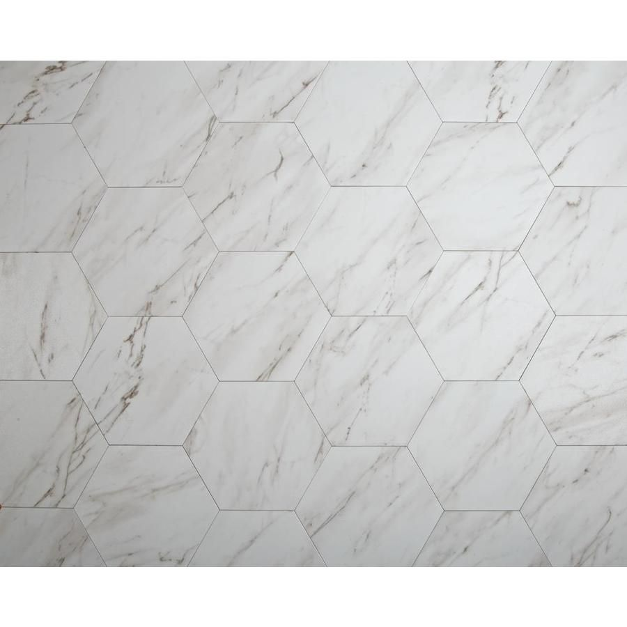 Style Selections 7 3 4 In X 9 In Groutable Grecian Marble Peel And Stick Vinyl Tile Lowes Com In 2021 Vinyl Tile Marble Vinyl Peel And Stick Vinyl
