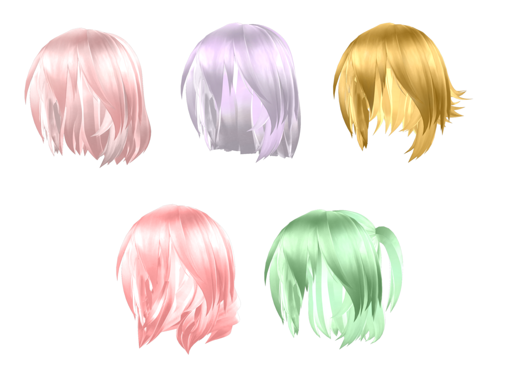 Tda Short Hair Pack [Download] by Owth | MMD | Hair pack