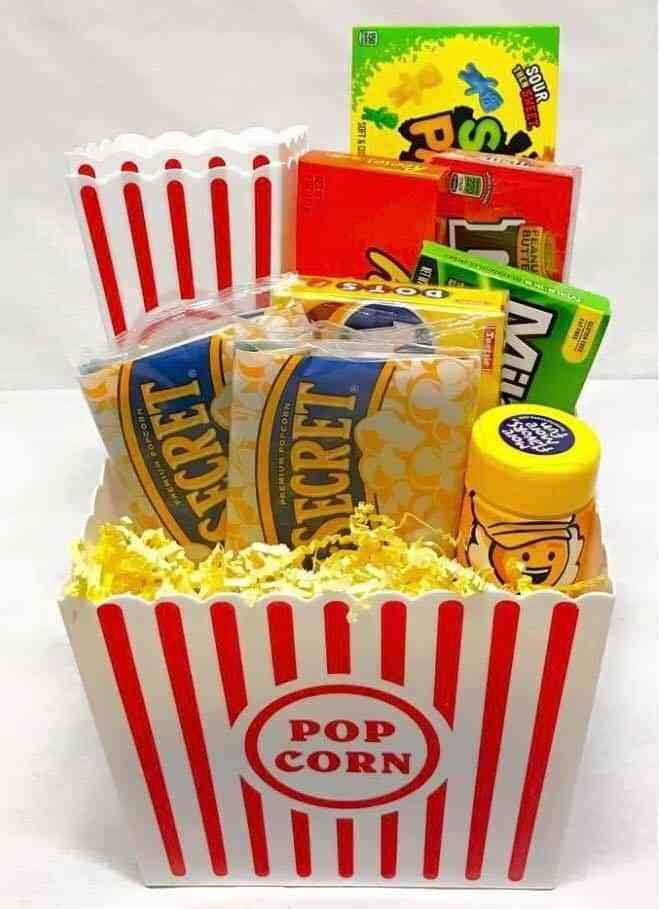 If you're looking for an inexpensive gift basket to make then this is it! Not only is this movie ni