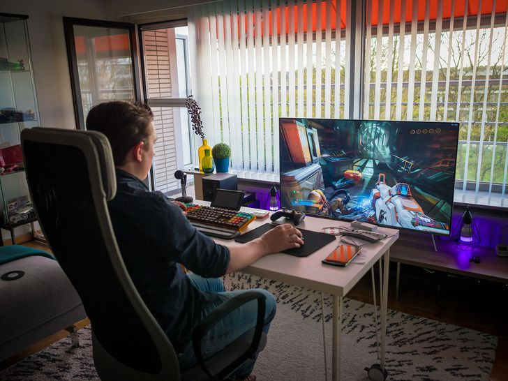 Living Room Battle Station Video Game Rooms Video Game Room Game Room