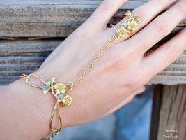 Brass colour bracelet ring by IanirasArtifacts