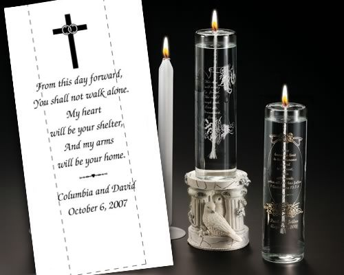 Cross with Verse Unity Candle