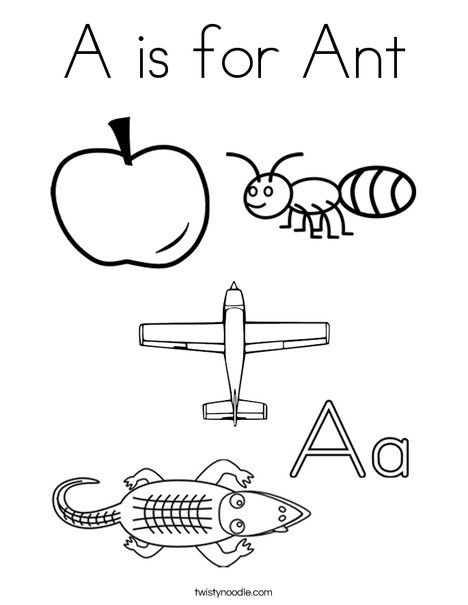A Is For Ant Coloring Page Letter A Coloring Pages Alphabet Preschool Lettering