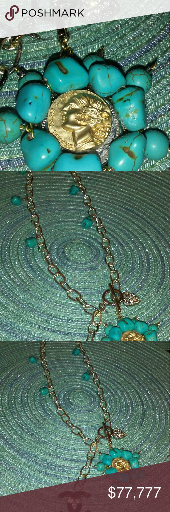 STUNNING COCO CHANEL GOLD BUTTON NECKLACE This is a