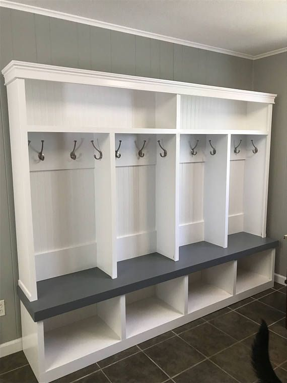 Mudroom Locker Entryway 4 Cubby Extra Large Entry Way Lockers Dog Rooms Cubbies