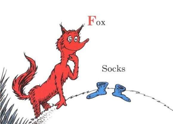 Dr Seuss Fox In Socks Clip Art 29072   MEGAZIP