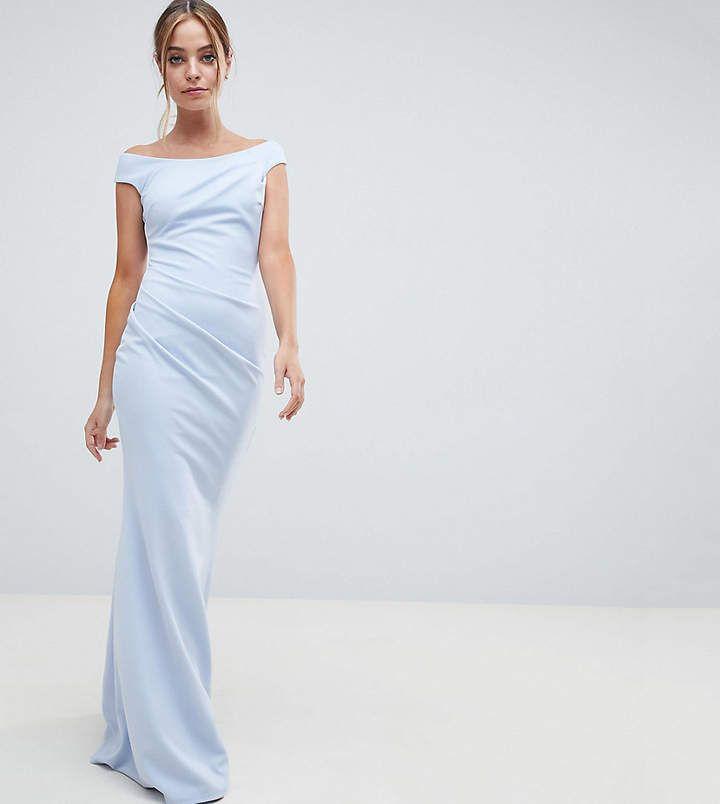 30afb32cbb4 City Goddess Petite City Goddess petite Bardot Fishtail Maxi Dress