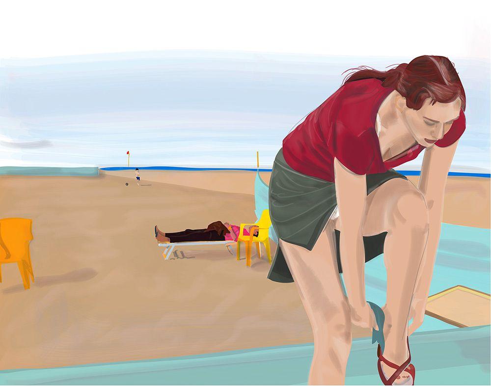 At the seashore by Mario Sughi $180.00