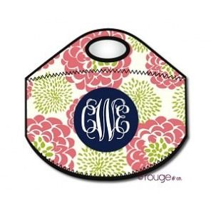 Peony Monogrammed Lunch Tote - Enter Initials in order to APPEAR