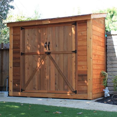 spacesaver 8 ft w x 4 ft d wooden lean to tool shed outdoor