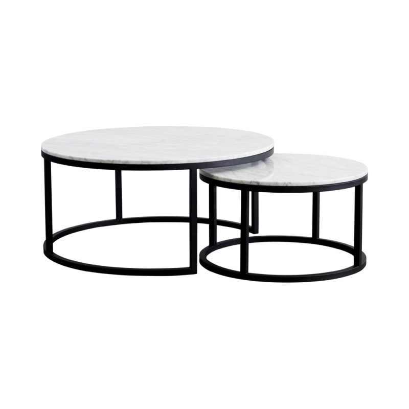 Nesting Carrara Marble Coffee Tables