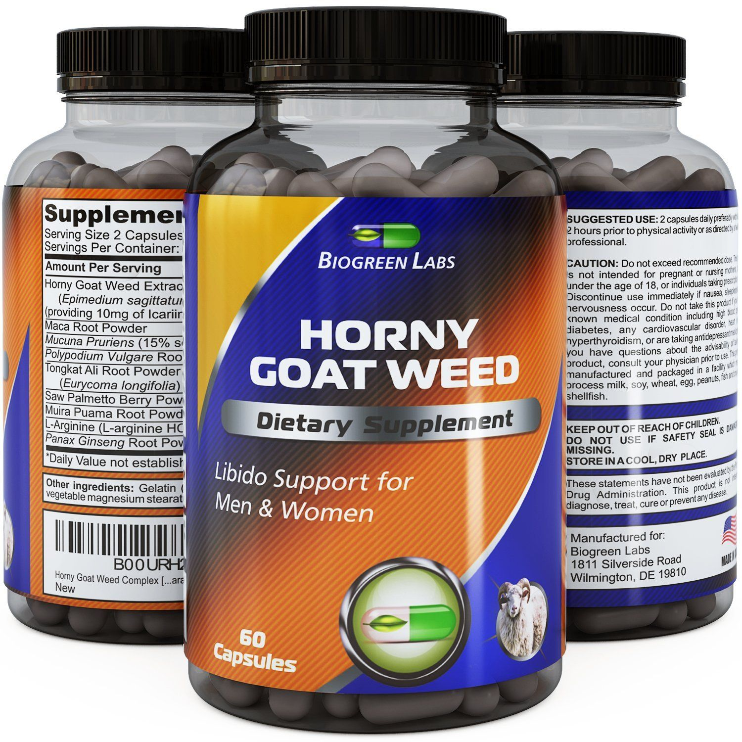 Horny Goat Weed Complex [] 1000 mg Pure Horny Goat Weed Extract with Tongkat Ali Root Powder [] 100% Pure and Natural Maca Root Extract [] Pharmaceutical Grade Maca Root Powder [] Effective and Potent Herbal Supplement for Increased Stamina [] Rapid Release Capsule Improves Energy Levels and Stamina [] Made in the USA [] Guaranteed by Biogreen Labs > Stop everything and read more details here! : Herbal Supplements