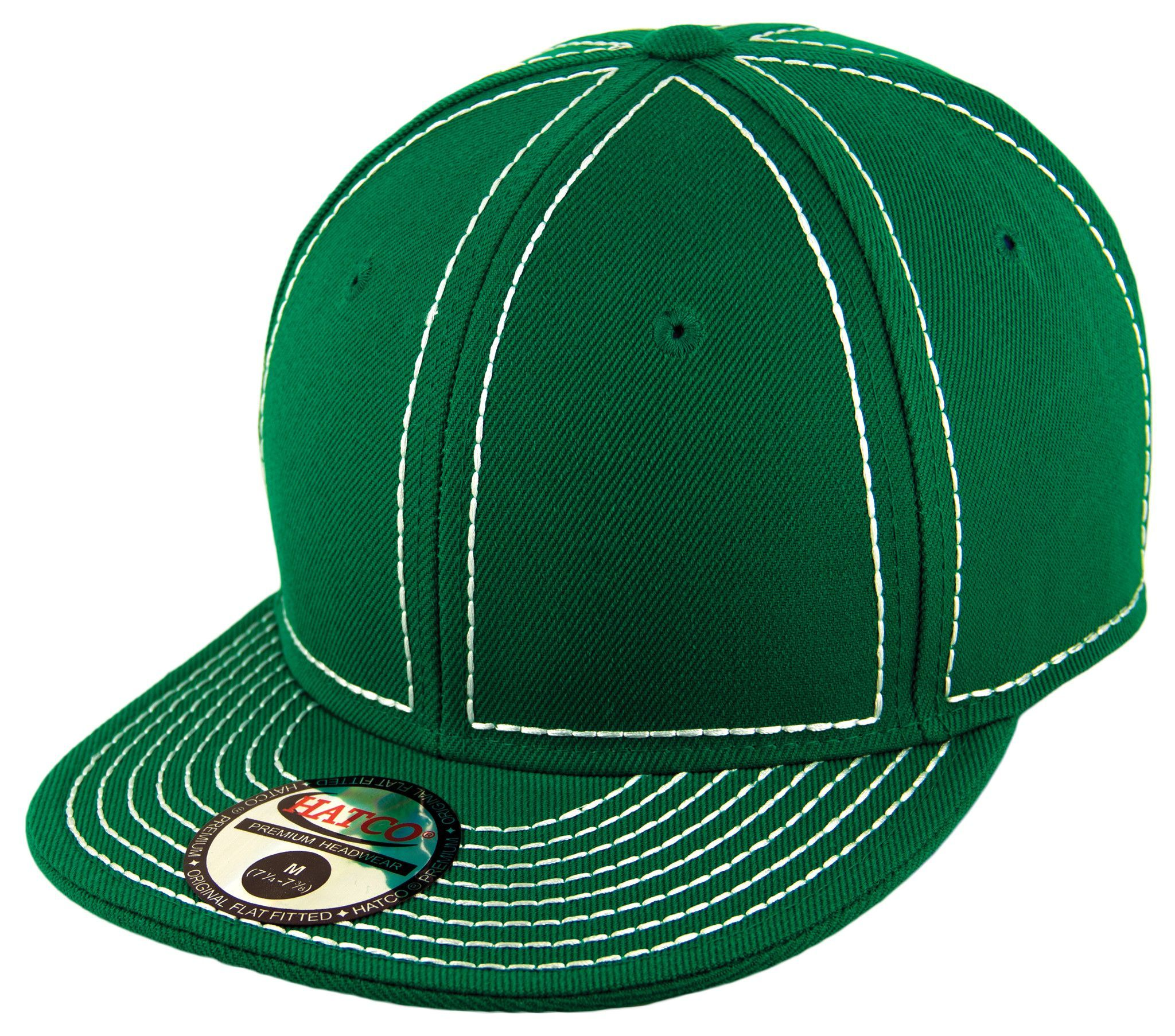 blank heavy stitch fitted cap kelly green white products