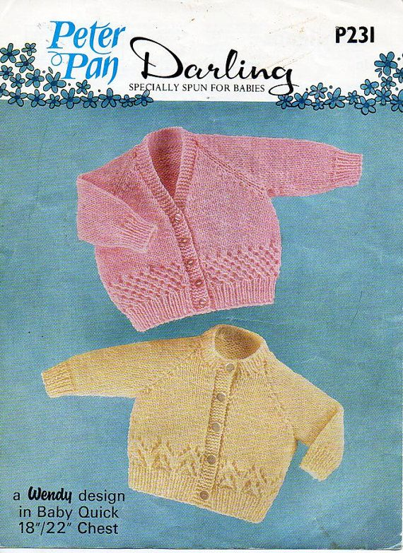 Baby Cardigans Knitting Pattern Pdf Dk Baby Jackets V Round Neck