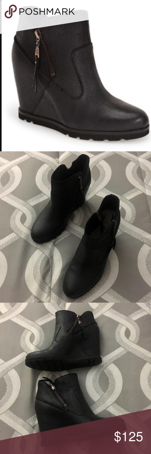 "3da5eb4e3e1 UGG ""Myrna"" Wedge Ankle Boots UGG ""Myrna"" Wedge Ankle Boots. Black ..."