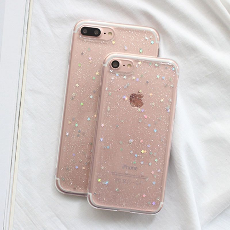 054cb488b64 For Apple iPhone 5S/6S/7/8 plus Bling Glitter Sparkly Soft Gel Phone Cover  Case | eBay #Iphone5s