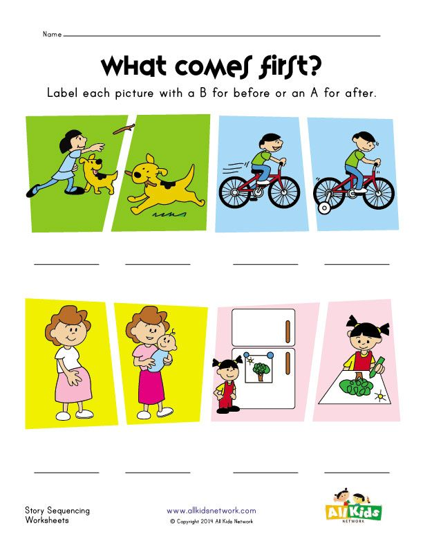Before And After Worksheet Sequencing Activities Kindergarten Kids Learning Kids Learning Activities Sequencing activities for preschoolers