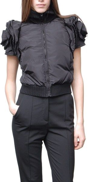 c9b41d6193 shopping valentino sleeveless down jacket with roses in black pn warm winter  we need warm coat